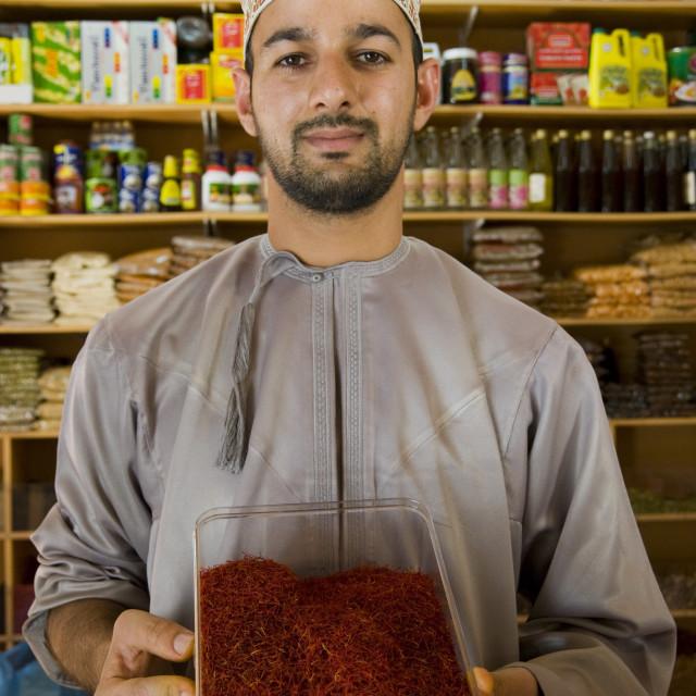 """Salesman Nizwa Market Oman"" stock image"