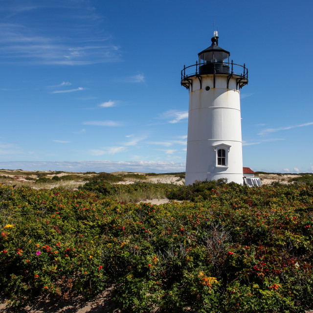 """""""Race Point lighthouse in Provincetown"""" stock image"""