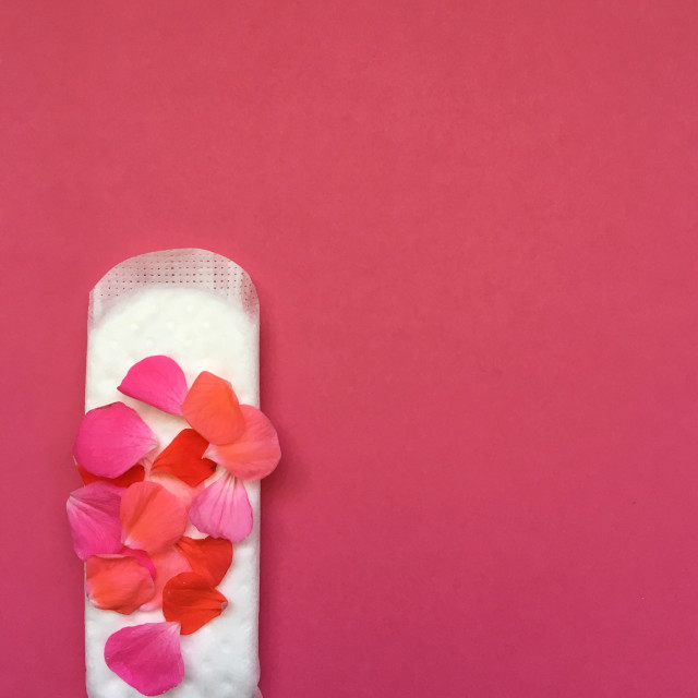 """""""Concept of sanitary protection for a period"""" stock image"""