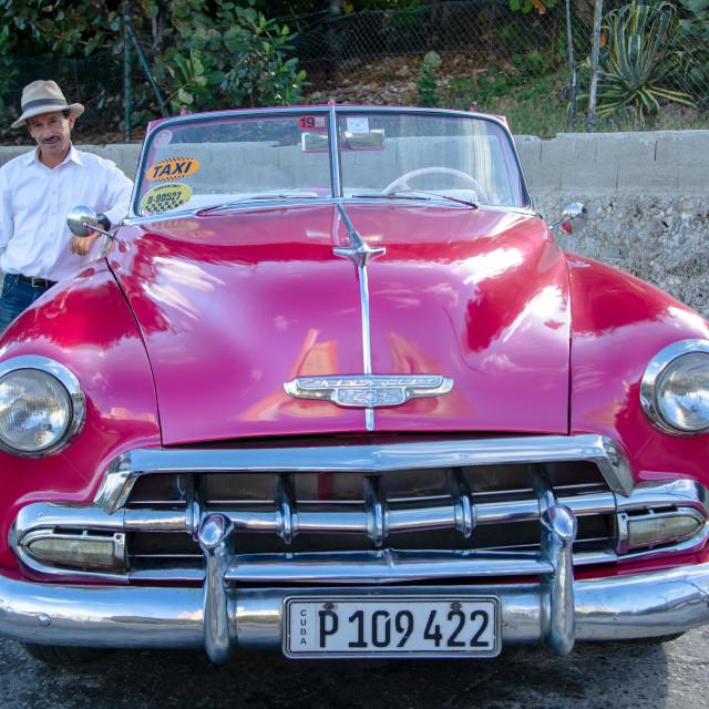 """""""Red velvet car"""" stock image"""