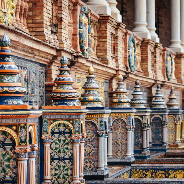 """""""plaza de españa , Seville"""" stock image"""