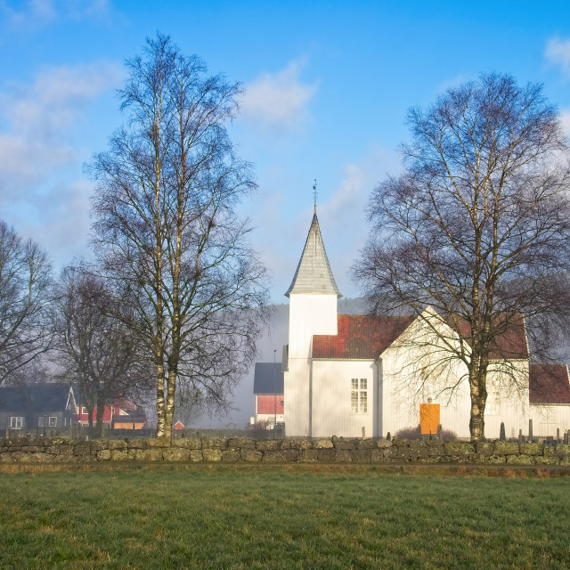 """A church in South Norway"" stock image"