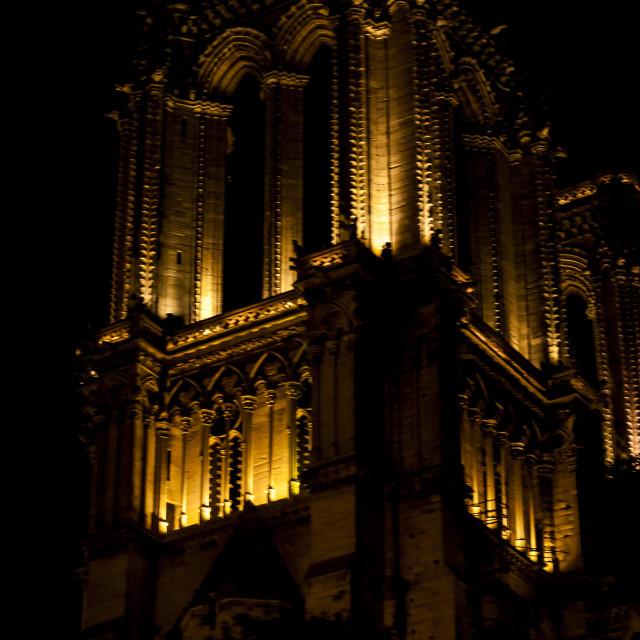 """Notre Dame a noite"" stock image"