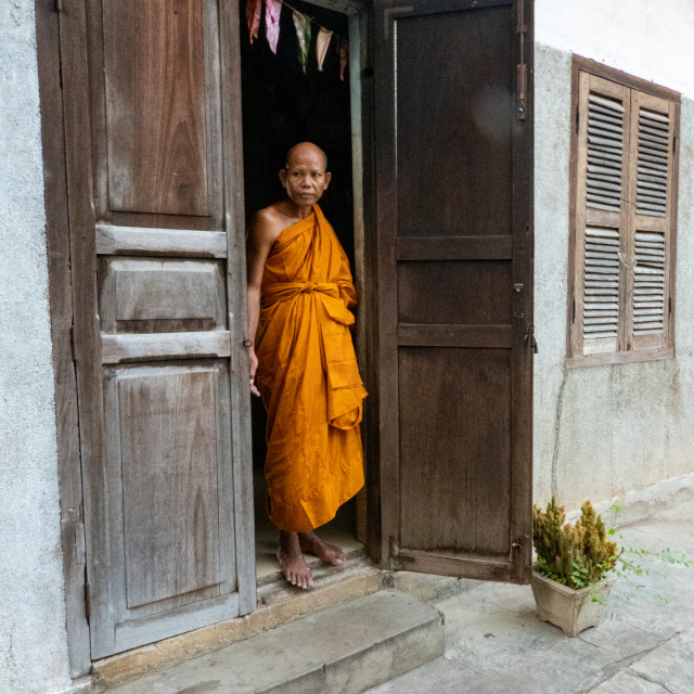 """""""Monk, Phnomh Sapang"""" stock image"""