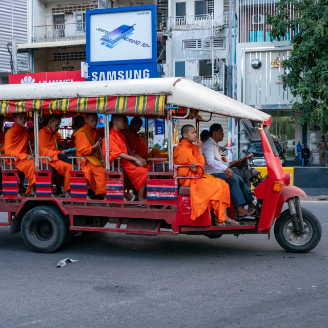 """Monks, Phnomh Penh"" stock image"