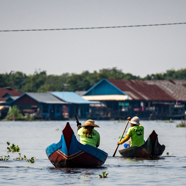 """Commuting on Tonle Sap"" stock image"
