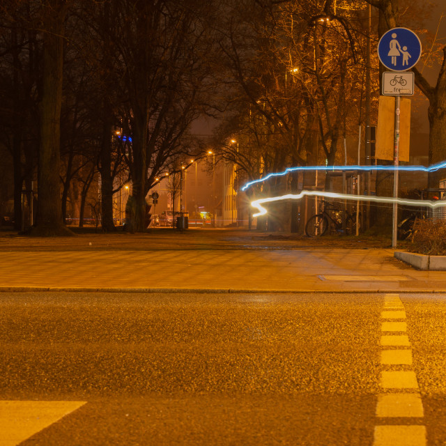 """Road city at night"" stock image"