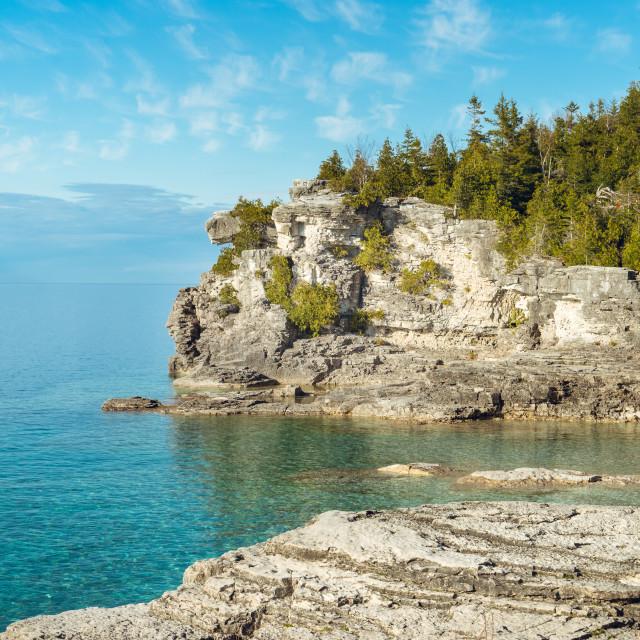 """Halfway Rock Point, Bruce Peninsula National Park, Ontario"" stock image"