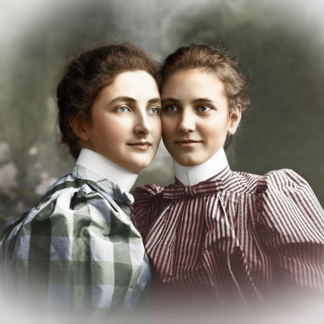 """Sisters Portrait"" stock image"