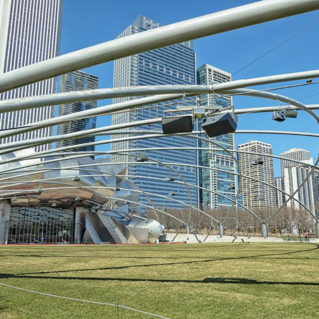 """Jay Pritzker Pavillion in Chicago"" stock image"