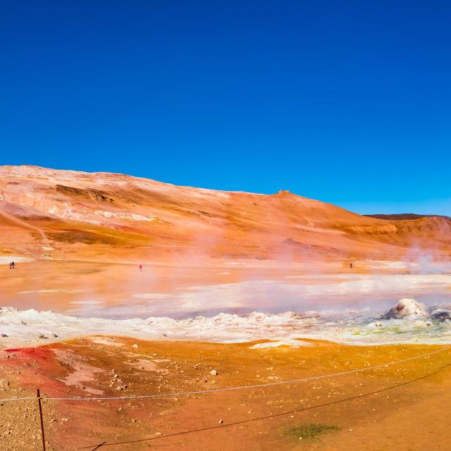 """Martian Landscapes - Geothermal active zones called Hverir on Ic"" stock image"