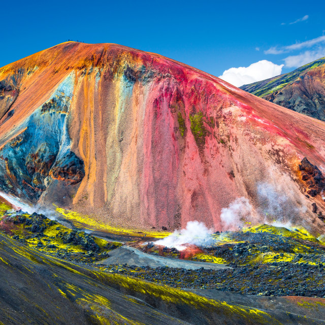 """Beautiful colorful volcanic mountains Landmannalaugar in Iceland"" stock image"