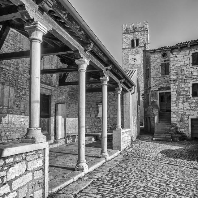 """View of Sveti Lovrec, Istria, Croatia"" stock image"