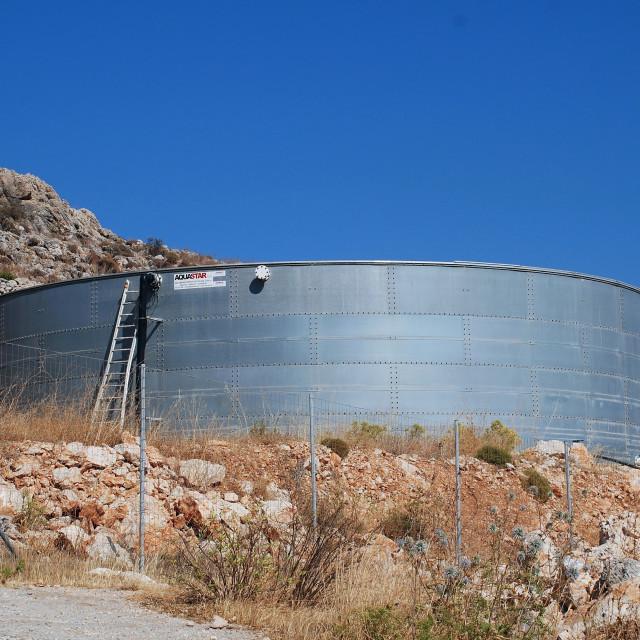 """Desalination plant, Halki"" stock image"