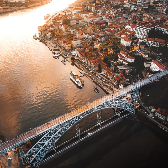 """Oporto from above"" stock image"