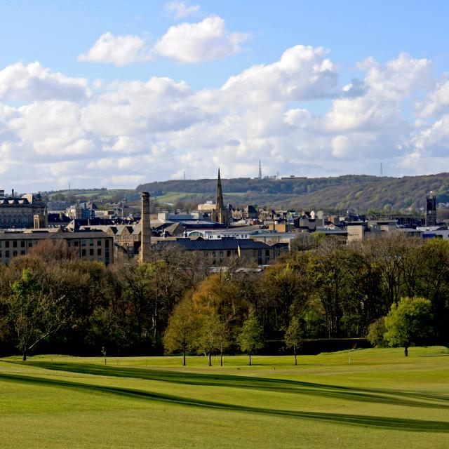 """Huddersfield Golf field"" stock image"