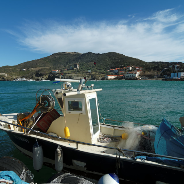 """Port-Vendres harbor"" stock image"