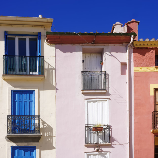 """""""Colored houses"""" stock image"""