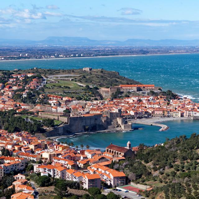 """Collioure harbor"" stock image"