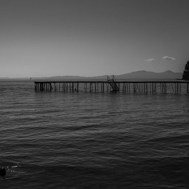 """""""The Long Jetty"""" stock image"""