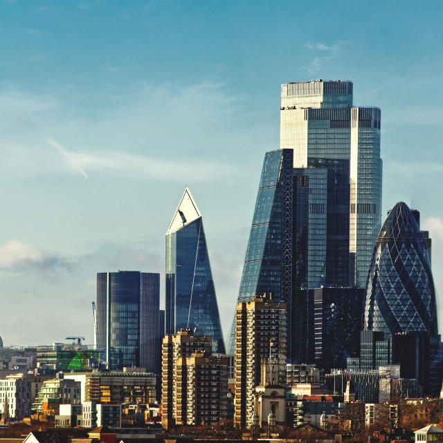 """The City -- London"" stock image"