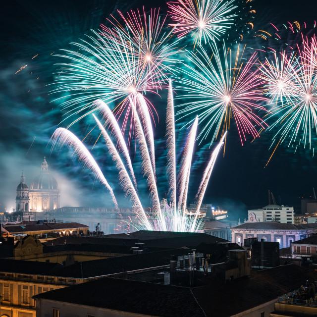 """""""Catania, the Sant'Agata fest"""" stock image"""