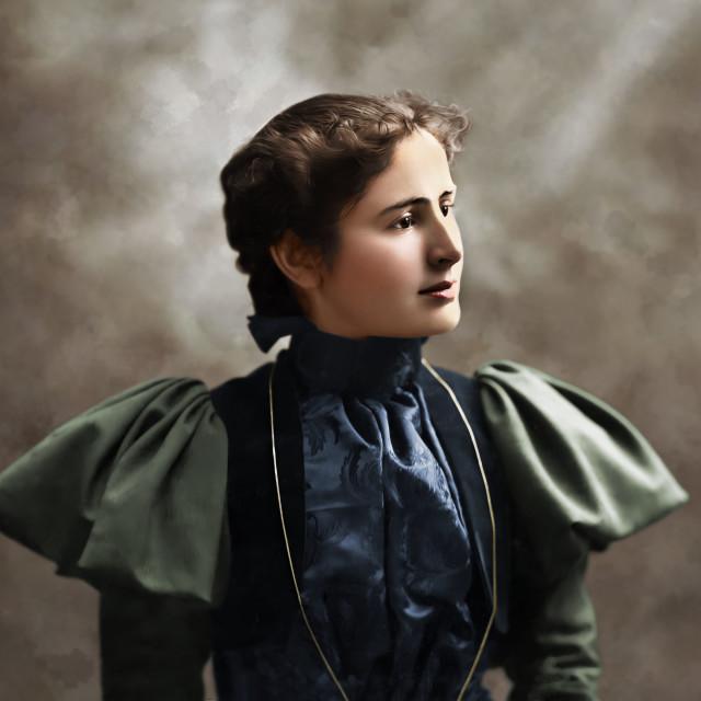 """""""Beautiful Woman Antique Portrait"""" stock image"""