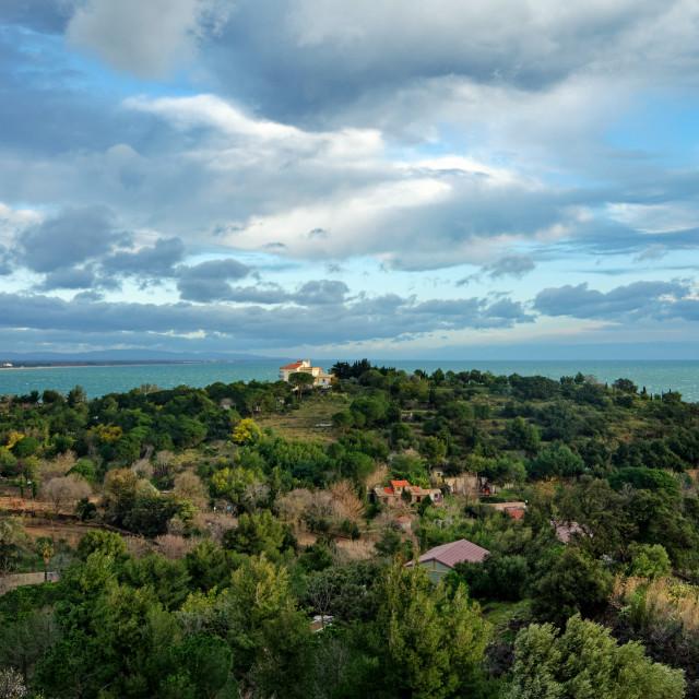 """Collioure coast"" stock image"