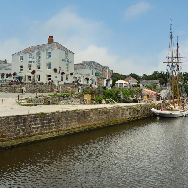 """Charlestown Harbour Cornwall"" stock image"