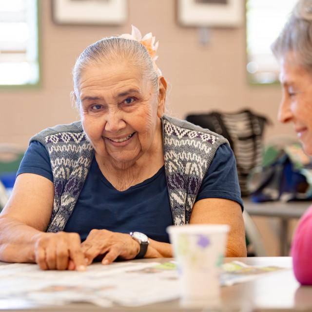 """""""Two Senior Woman"""" stock image"""