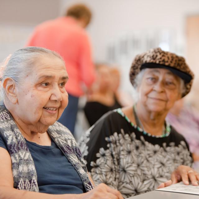 """Two Happy Senior Woman"" stock image"