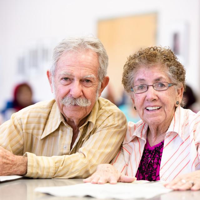 """Couple in a Senior Center"" stock image"