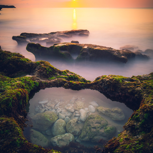 """Sunset in Bali"" stock image"