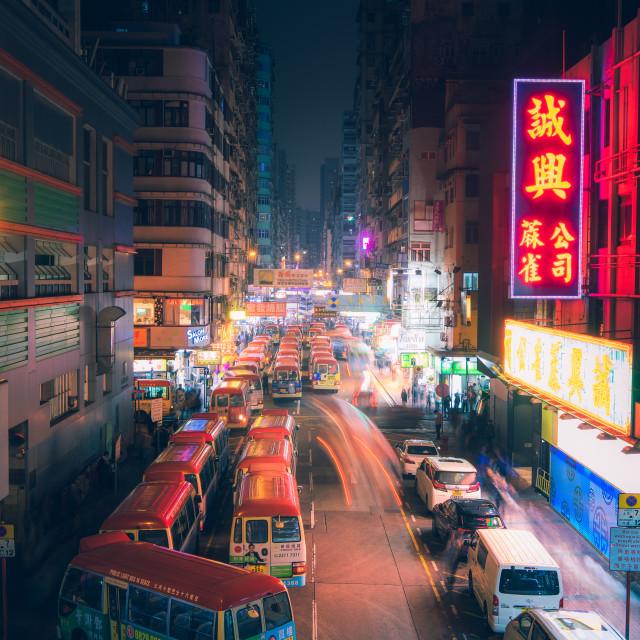 """Hong Kong Buses"" stock image"
