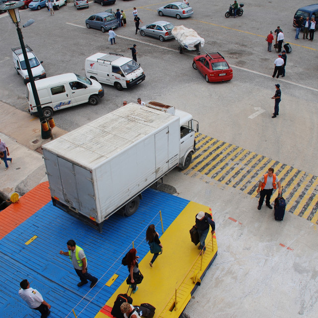 """Skopelos ferry, Greece"" stock image"