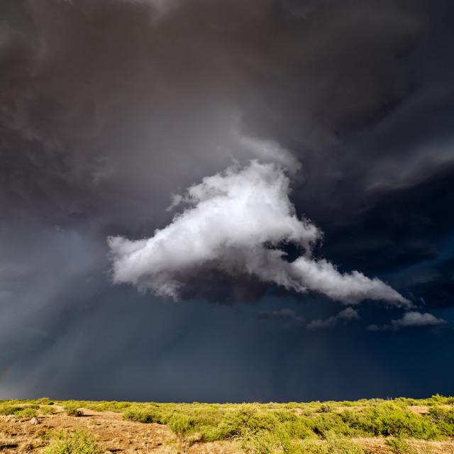 """""""Dramatic storm clouds"""" stock image"""