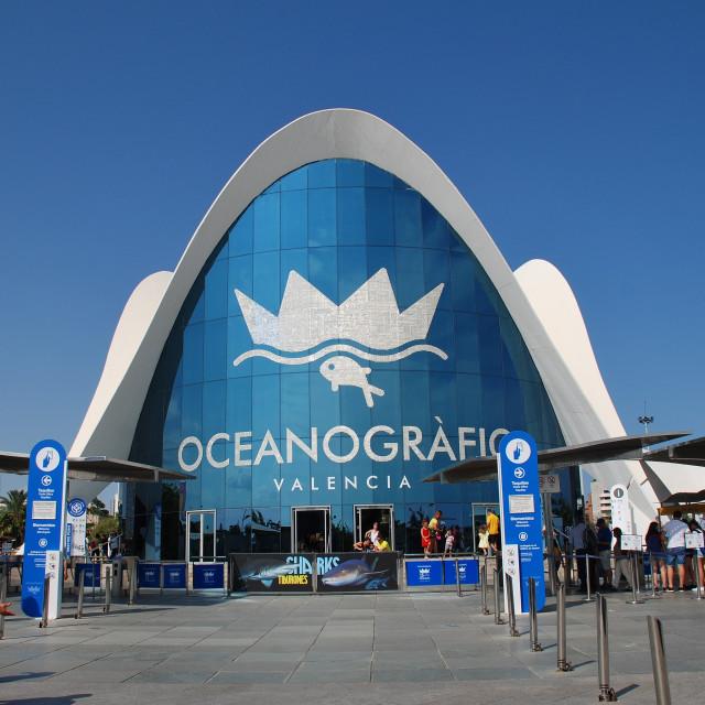 """The Oceanografic, Valencia"" stock image"
