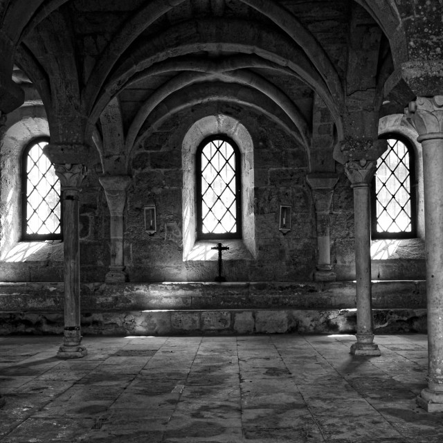 """""""Fontfroide abbey"""" stock image"""