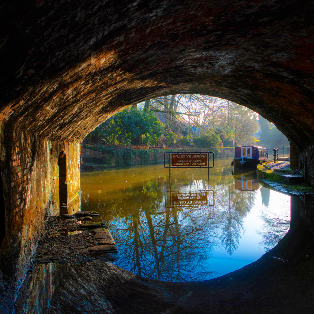 """Entrance to Worsley Delph"" stock image"