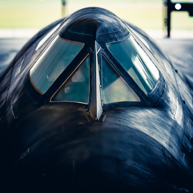 """SR71 Blackbird"" stock image"