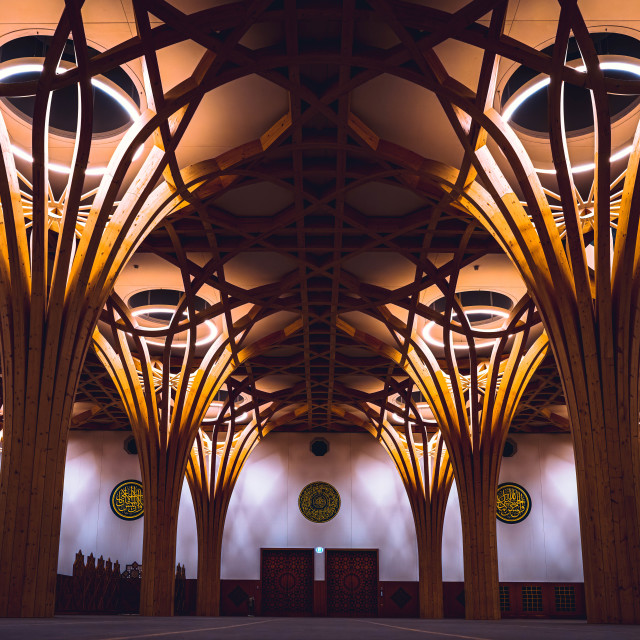 """Lighting Cambridge Central Mosque"" stock image"