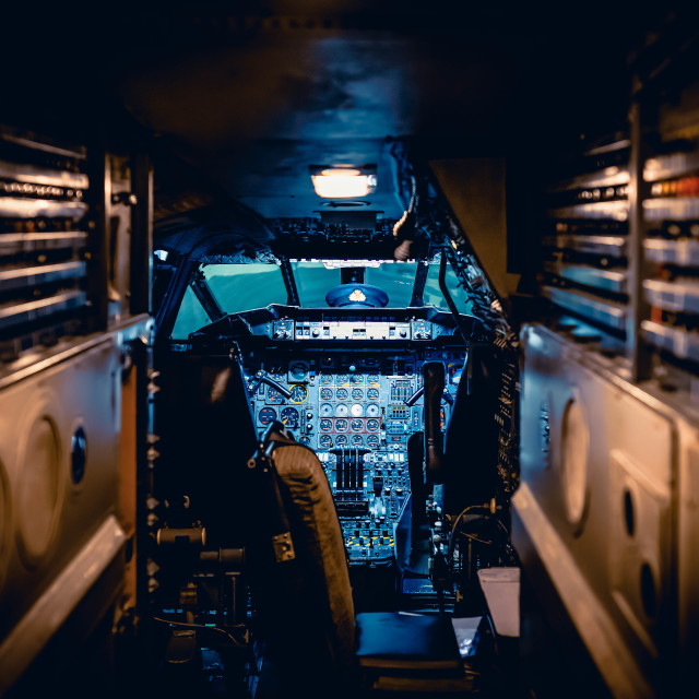 """""""Concord Cockpit from Duxford Imperial War Museum"""" stock image"""