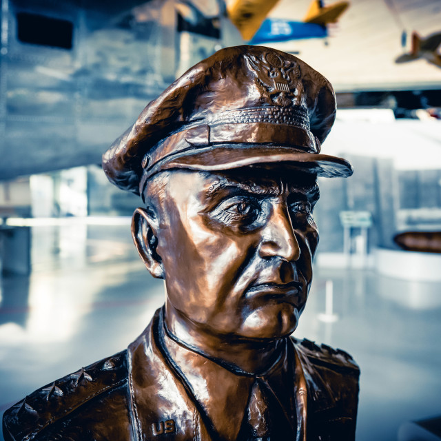 """""""Sculpture from Duxford American Air Museum"""" stock image"""