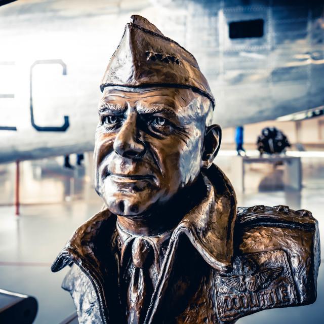 """""""Sculpture of James H. Doolittle"""" stock image"""