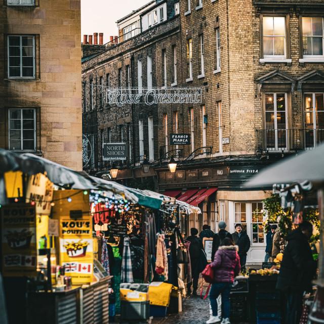 """""""Cambridge Market Square"""" stock image"""