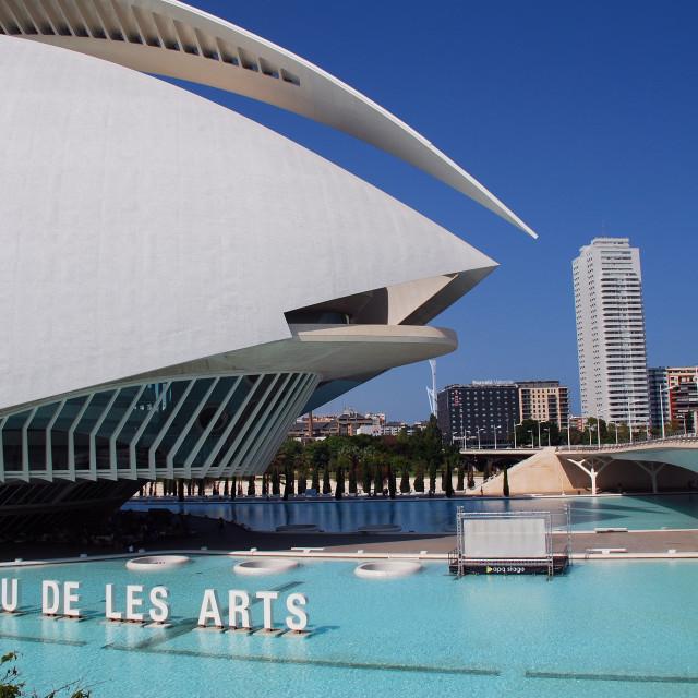 """Palau de les Arts, Valencia"" stock image"