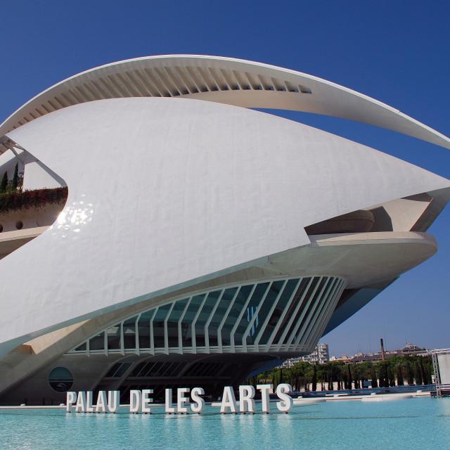 """Palau de les Arts in Valencia"" stock image"