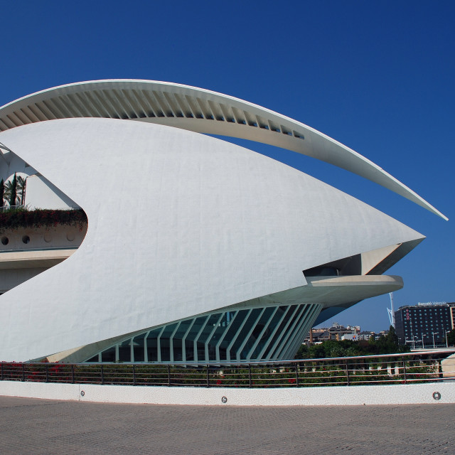 """Palau de les Arts building, Valencia"" stock image"