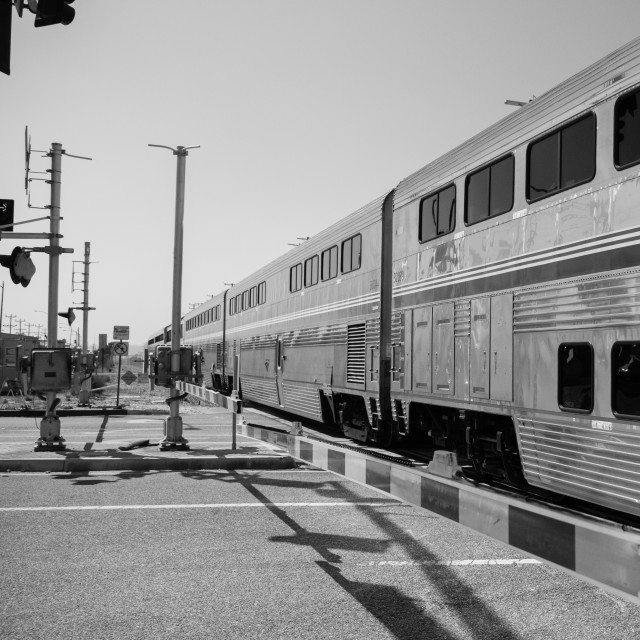 """Travelling Through California - Amtrak Train"" stock image"