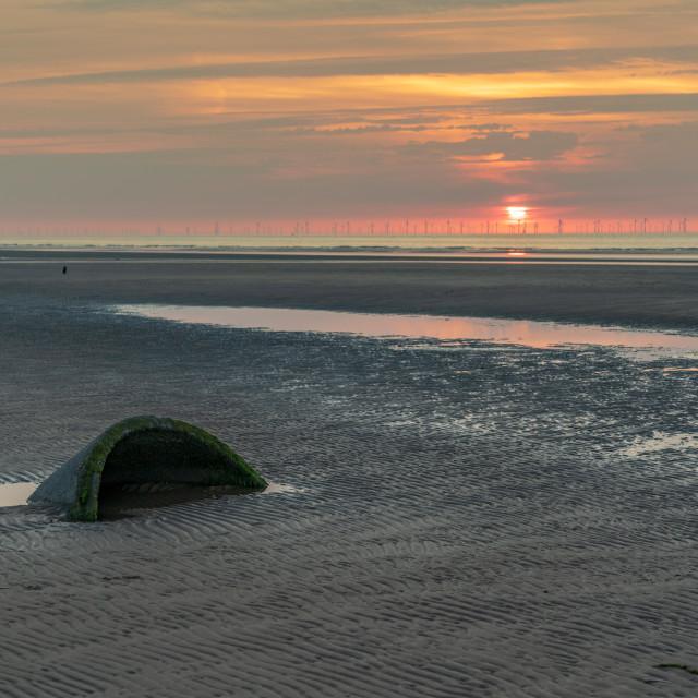 """Talacre Beach, Flintshire, Clwyd, Wales, UK"" stock image"
